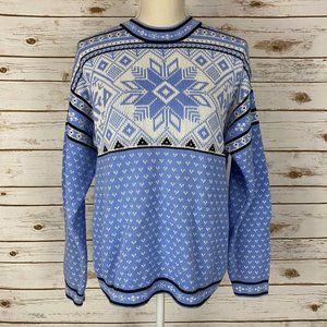 Hanna Andersson Blue Snowflake Fair Isle Sweater
